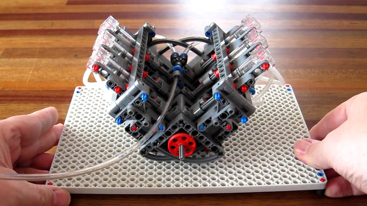 Papercraft Lego Pneumatic Engine - simple V6