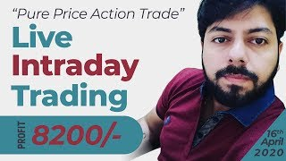 LIVE INTRADAY TRADING|| 16 APRIL 2020||