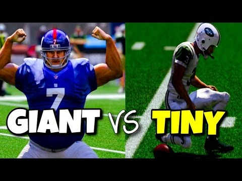 GIANT PLAYERS VS TINY PLAYERS - MADDEN 17 CHALLENGE