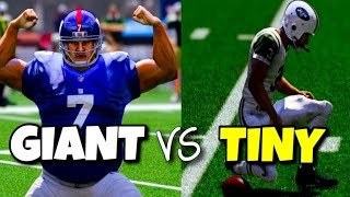 vuclip GIANT PLAYERS VS TINY PLAYERS - MADDEN 17 CHALLENGE