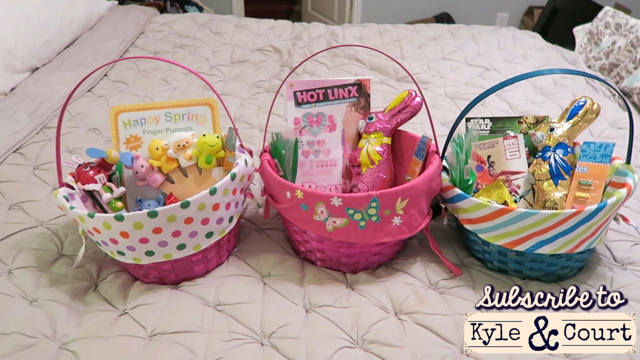 Easter baskets 2015 for a 5 3 and 1 year old youtube negle Images