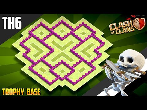 New Ultimate TH6 HYBRID/TROPHY Base 2018!! COC Town Hall 6 (TH6) Hybrid Base Design - Clash Of Clans