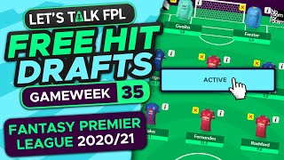 FPL FREE HIT DRAFTS | DOUBLE GAMEWEEK 35 | Fantasy Premier League tips 2020/21