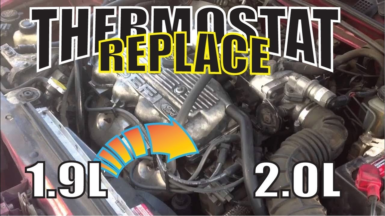 91 96 97 02 ford escort thermostat 1 9l 2 0l replacement youtube