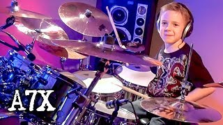 """Beast and the Harlot, A7X"" Avery Molek, 7 year old Drummer"