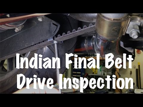Indian Motorcycle Final or Secondary Belt Drive Inspection | Motorcycle Biker Podcast