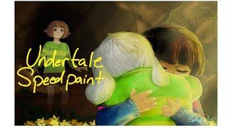 Speedpaint: [Undertale] Asriel, Frisk, and Chara