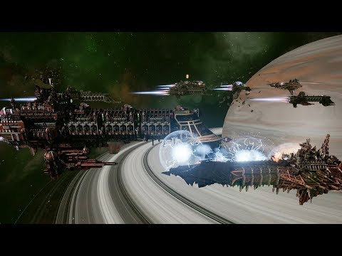 Imperial Navy (Adeptus Mechanicus) vs Chaos! Rank 114 - Battlefleet Gothic Armada
