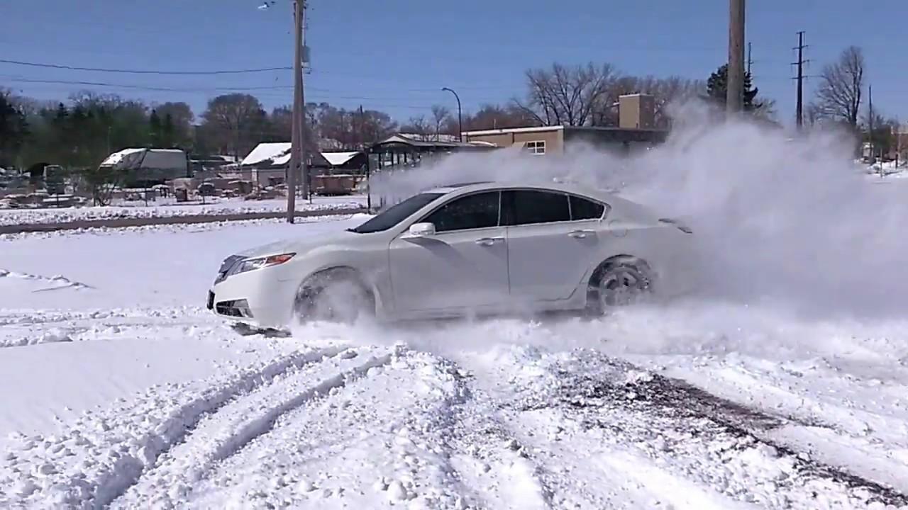 2010 Acura Tl Sh Awd Drifting In Snow