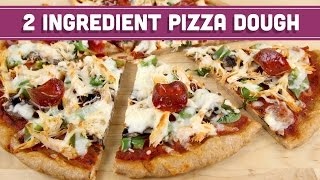 2 Ingredient Pizza Dough! Healthy Pizza And Breadsticks! - Mind Over Munch