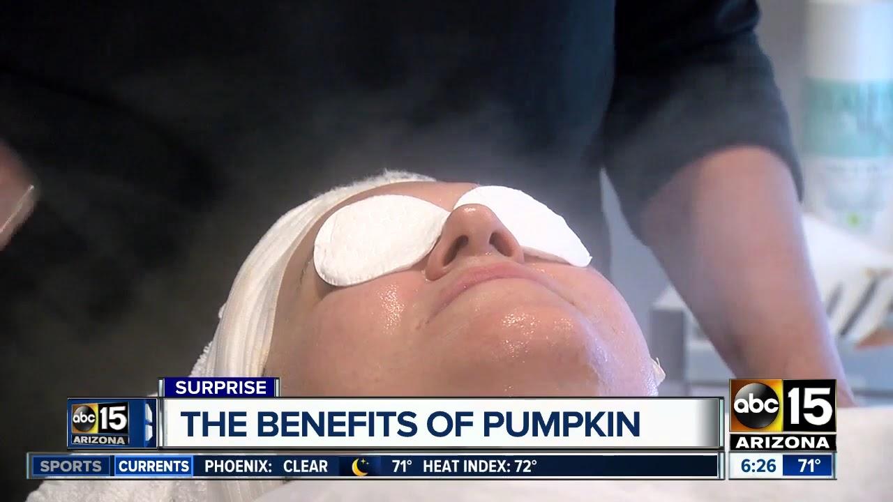 A pumpkin facial? It reportedly has some benefits
