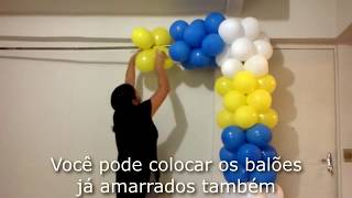DIY Fazendo arco quadrado cano PVC how to make square balloon arc