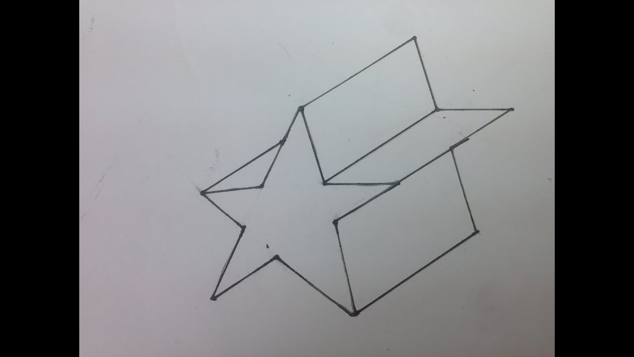 how to draw a 3d star - How To Draw 3d Diagrams
