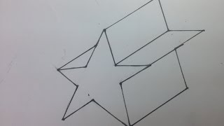 How to draw a 3D star