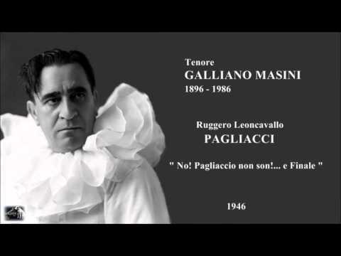 Tenore GALLIANO MASINI - Pagliacci