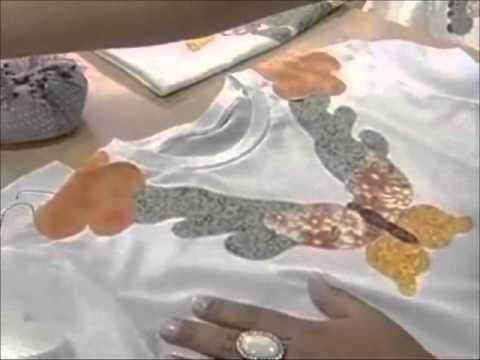 Camiseta Customizada - Eliete Massi - Artesanato - Ateliê na Tv
