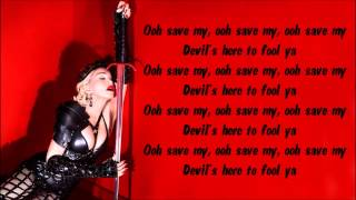 Madonna - Devil Pray Karaoke / Instrumental with lyrics on screen