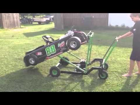 One Man Electric Go Kart Lift Youtube