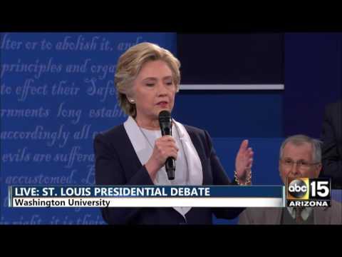 Second Presidential Debate - Hillary Clinton on Billy Bush tape - Donald Trump