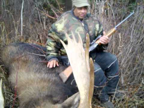 Moose put Down by Selvon Raphael-Shamattawa-Hayes River