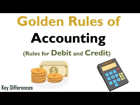 Golden Rules of Accounting with Example (Journal Entry) - Types of Accounts