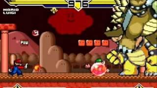 Mario(me) and Luigi vs Bowser and Giga Bowser MUGEN Battle!!!
