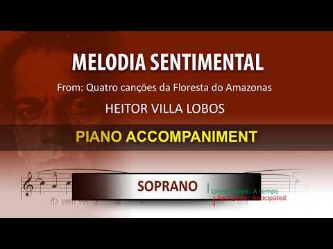 Melodia Sentimental / Karaoke Piano / Heitor Villa Lobos / Soprano