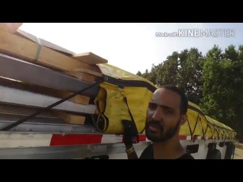 Prime Inc Flatbed Securement: How to Tarp a load.