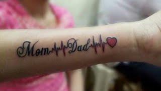 #Mom 🕚 #Dad  #tattoo  #heartbeat #tattoo