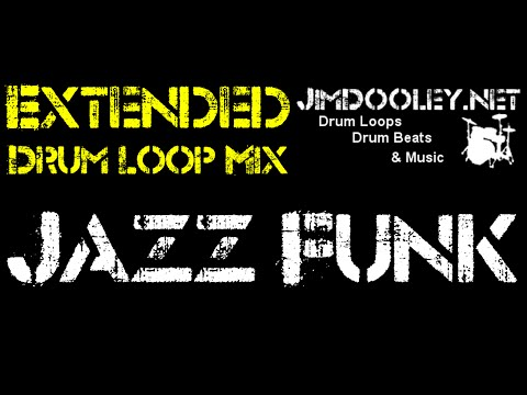 Extended Drum Loop Mix - Jazz Funk 95 BPM (Ride Cymbal Version)