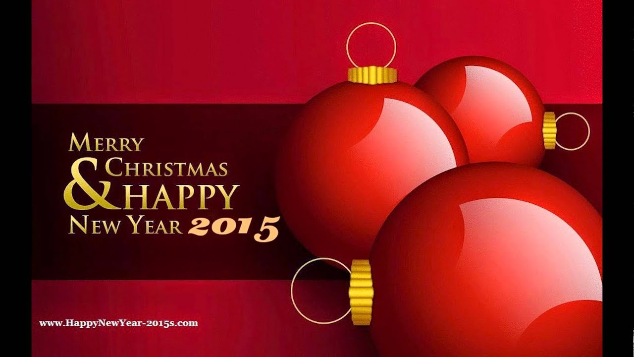 Merry Christmas Happy New Year 2015 Greetings Youtube
