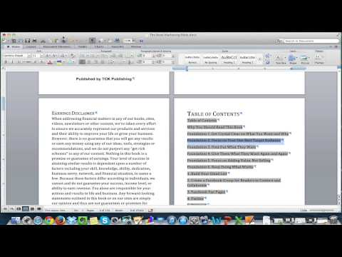How to Format an Ebook for Kindle with Mac Using Microsoft Word – Ebook Publishing School