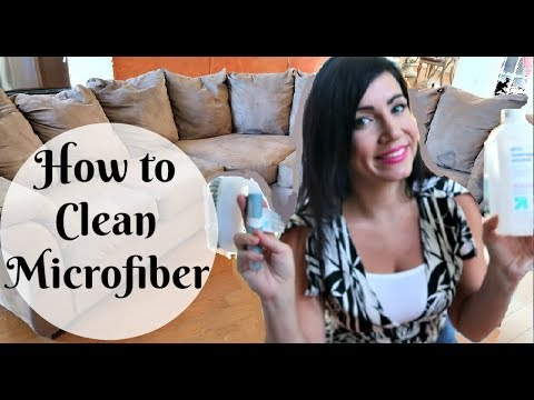 HOW TO CLEAN A MICROFIBER COUCH WITH ALCOHOL // CLEANING MOTIVATION // SPEED CLEANING