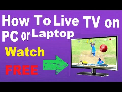 how to watch tv on pc