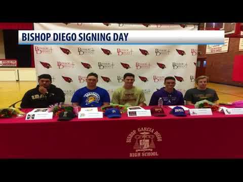 Five student-athletes from Bishop Diego ink college commitment
