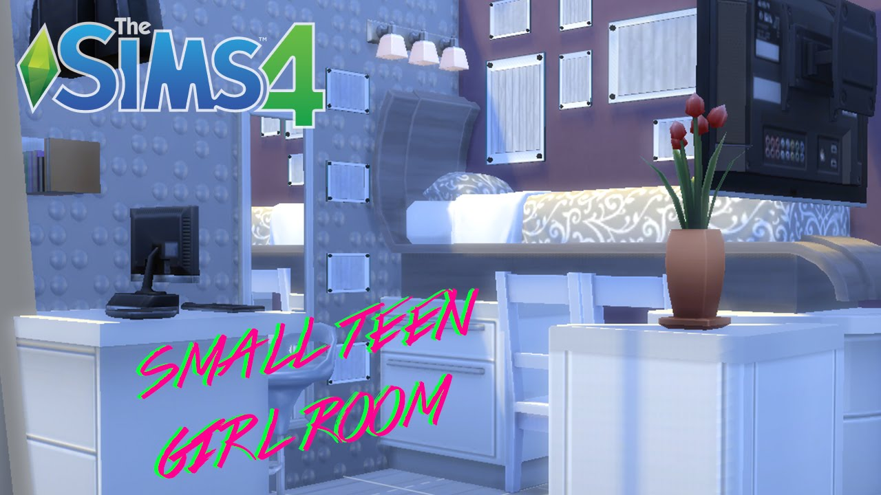 the sims 4 | compact home decor |teen bedroom - youtube