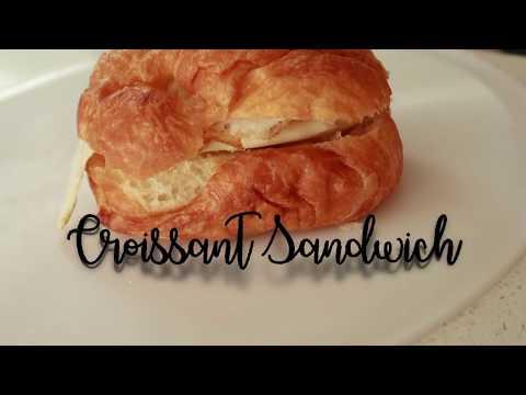 可颂三明治做法 Croissant Sandwich with eggs & Pastrami