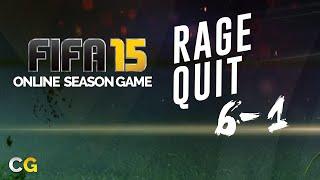 Fifa 15 ● 6-1 Online Season Game  - Rage Quit  | Gameplay HD
