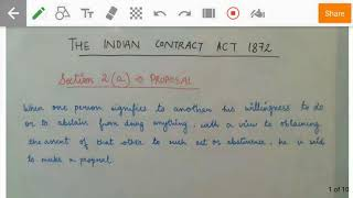 What is a Proposal? General explanations related to Indian Contract Act 1872