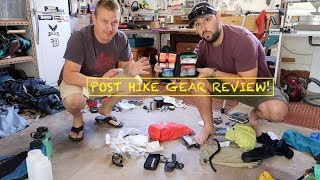 Post hike gear review!