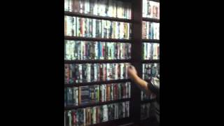 DVD/blue ray collection and cabinet