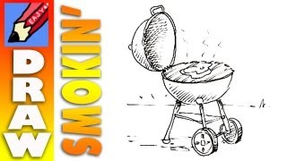 How to draw a barbecue real easy