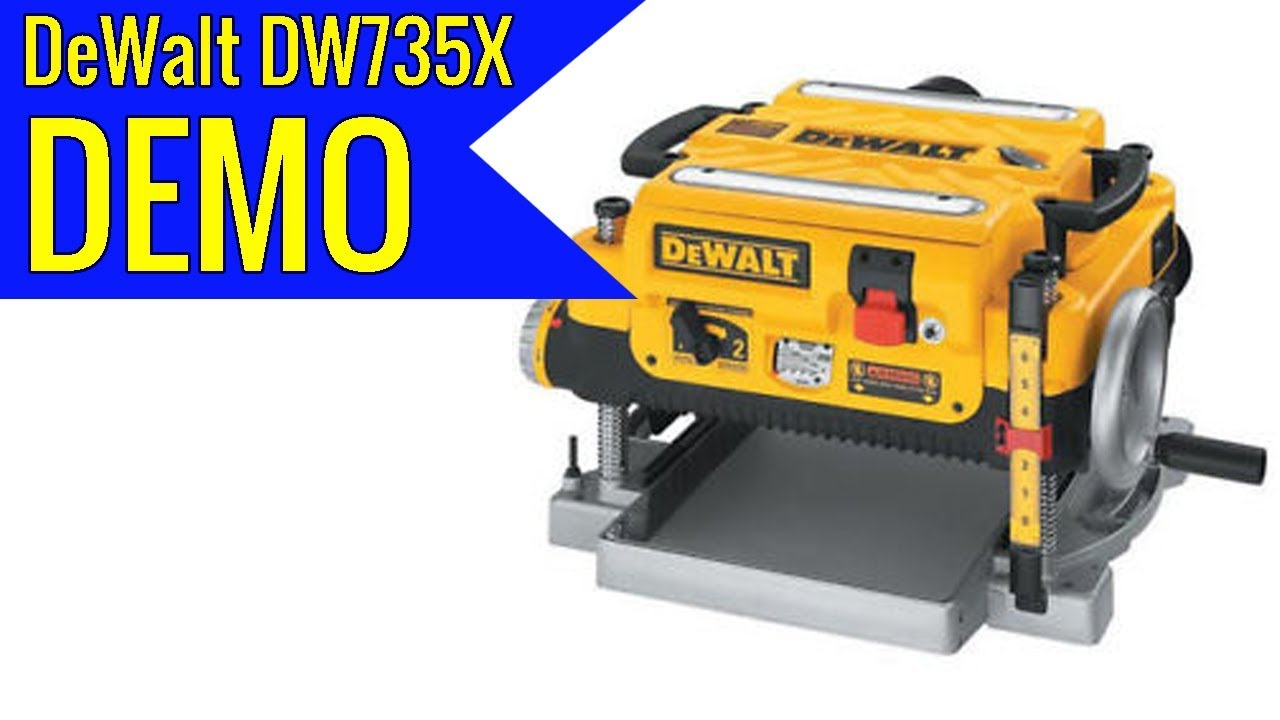 DEWALT DW735X Two Speed Thickness Planer Package 13 Inch 2019 review