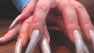LongNailsQueen another video playing with her claws (video 9)