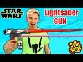 STAR WARS LIGHTSABER GUN MOD!! (SILLY STRING)
