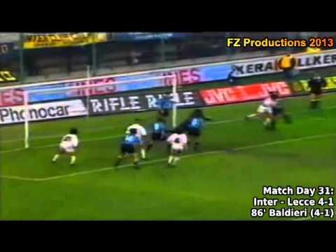 Serie A 1993-1994, day 31 Inter - Lecce 4-1 (Baldieri goal)