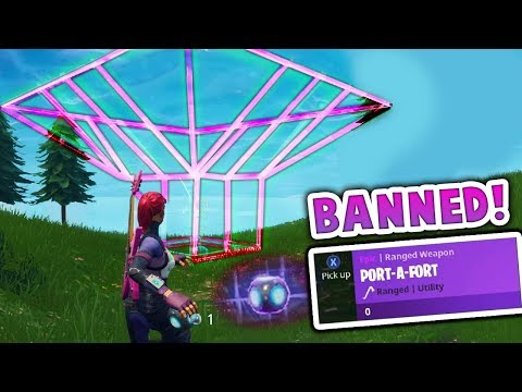 The PORT-A-FORT Should NOT be BANNED in Fortnite Battle Royale!