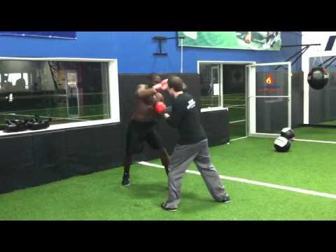 Sam Acho boxing