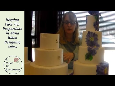 Cake proportions for cake decorating. Wedding cake tutorial and tips