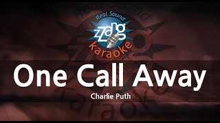 Charlie Puth-One Call Away (MR) (Karaoke Version) [ZZang KARAOKE]